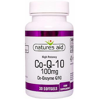 Natures Aid CO-Q-10 100mg (Co-Enzyme Q10) , 30 Capsules