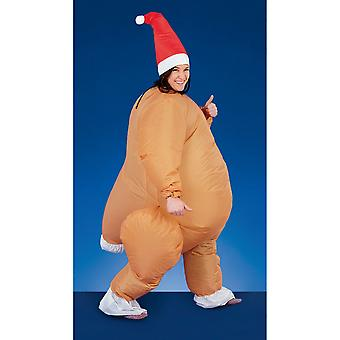 Christmas Shop Adult Unisex Inflatable Novelty Christmas Suit