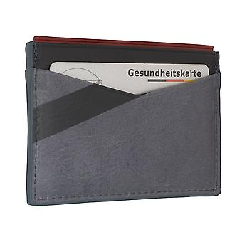 FOSSIL men's credit card holder card holder leather pouch gray 6560