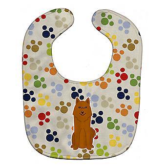 Каролинских сокровища BB5851BIB Pawprints Карельская медвежья собака ребенок нагрудник
