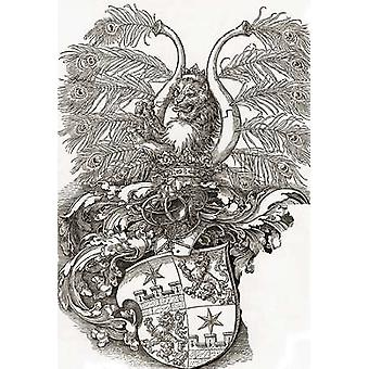 Coat Of Arms Of Roggendorff Poster Print by Albrecht Durer