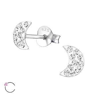 Moon crystal from Swarovski® - 925 Sterling Silver Children's Ear Studs