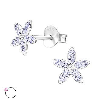 Flower crystal from Swarovski® - 925 Sterling Silver Ear Studs