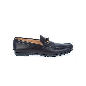 Church's men's ARONSOFTCALFNAVY black leather moccasins