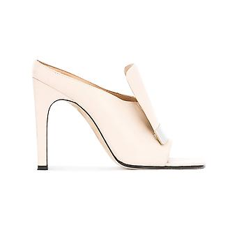 Sergio Rossi women's A77980MAGN059180 beige leather heel shoes