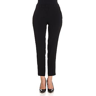 Twin set women's PA726H00006 black acetate pants