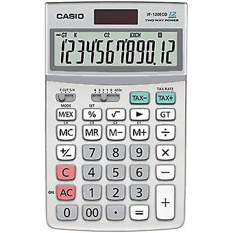 Calculadora Casio Eco 12 escritorio de dígitos (modelo no. JF120ECO-W)