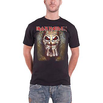 Iron Maiden T Shirt Eddie Candle Finger Album Band Logo Official Mens New Black