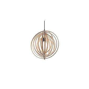Disco Natural Wood Pendant - Ideal Lux 138275