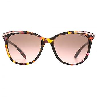 Ralph By Ralph Lauren Metal Brow Detail Cateye Sunglasses In Pink Marble