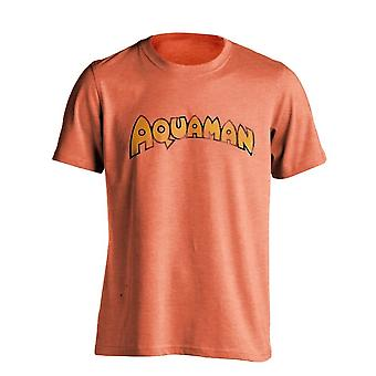 DC Comics Mens Aquaman Retro Logo T Shirt
