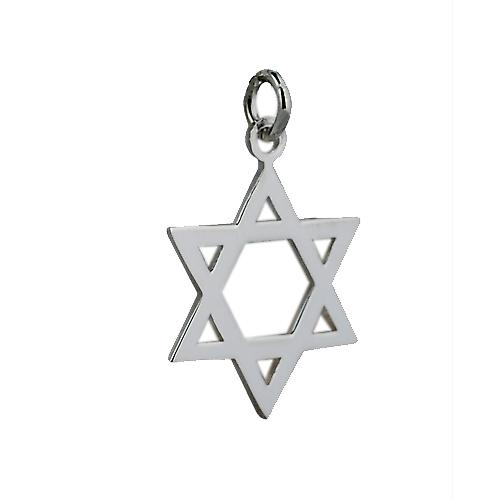 Silver 23x20mm plain Star of David Pendant