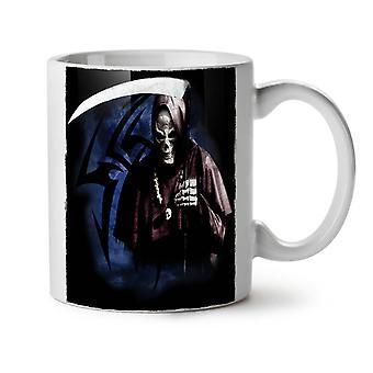 Grim Reaper muerte matar a té blanco nueva taza de café de cerámica 11 oz | Wellcoda