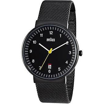 Braun Classic Watch with Stainless Steel Strap (BN0032BKBKMHG)