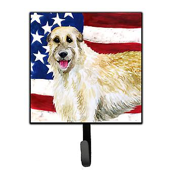 Carolines Treasures  BB9670SH4 Irish Wolfhound Patriotic Leash or Key Holder