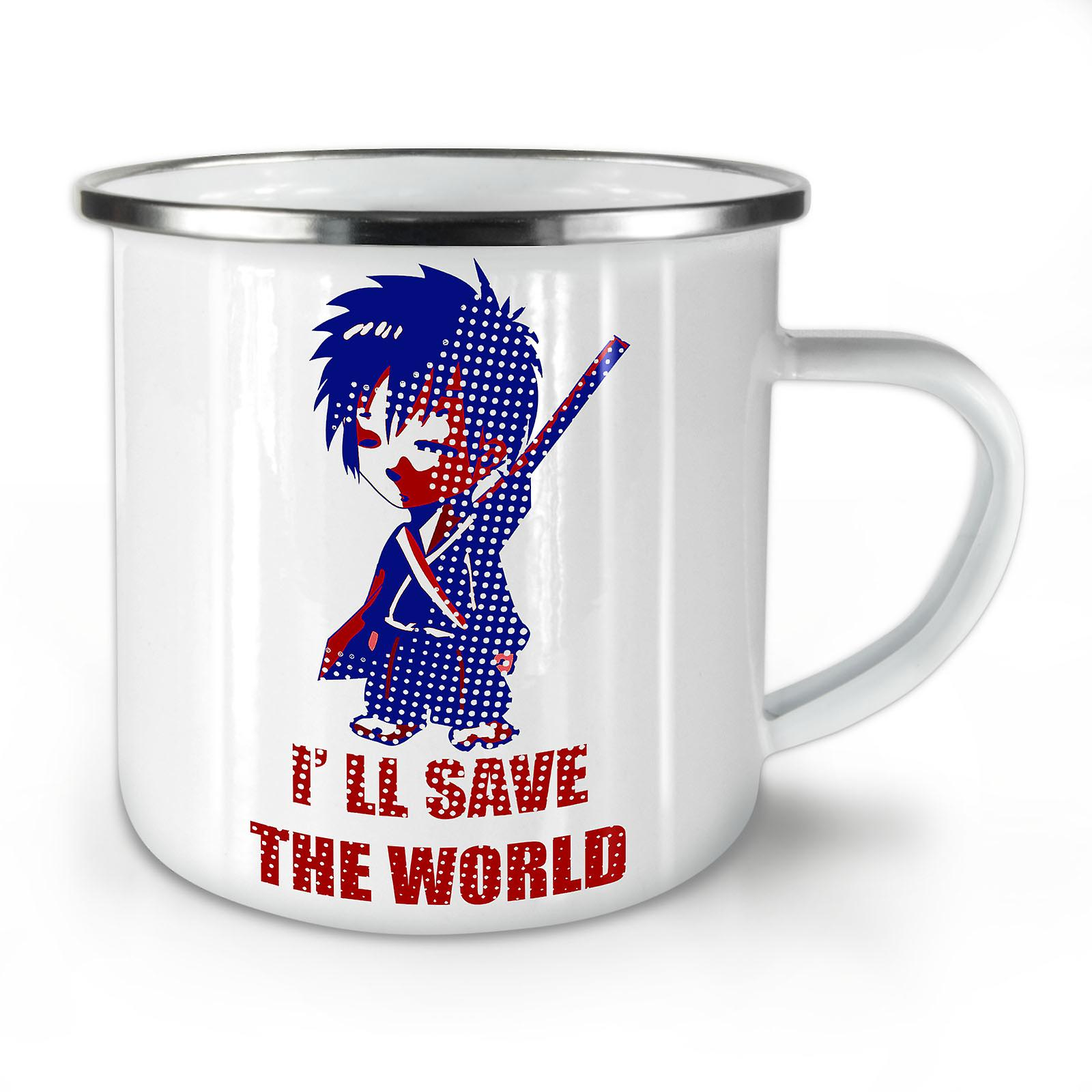 Katana Coffee OzWellcoda Enamel Mug10 Anime Whitetea New Cool wPynm8ON0v