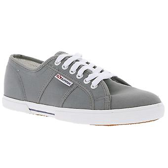 SUPERGA sneaker lace-up shoes grey