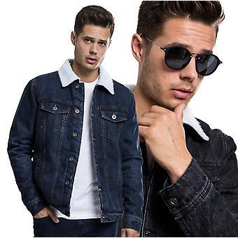 Urban classics - SHERPA coat jeans denim jacket