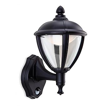 Firstlight traditionelle schwarze Motion Sensor Outdoor LED-Wand Laterne