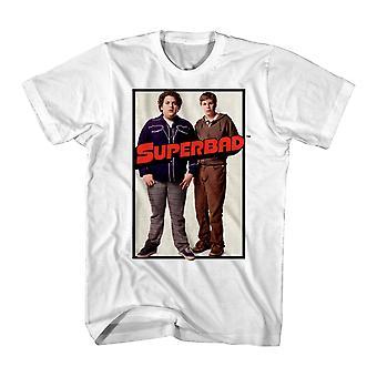 Super dårlig Duo plakaten mænds hvid T-shirt