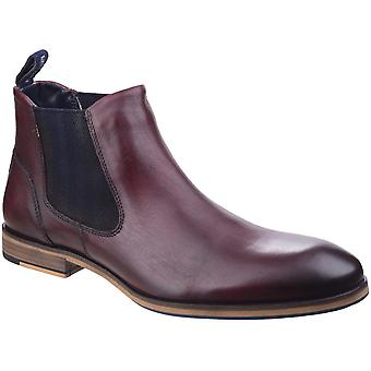 Lambretta Mens Moorgate Lace Up Leather Durable Chelsea Ankle Boots