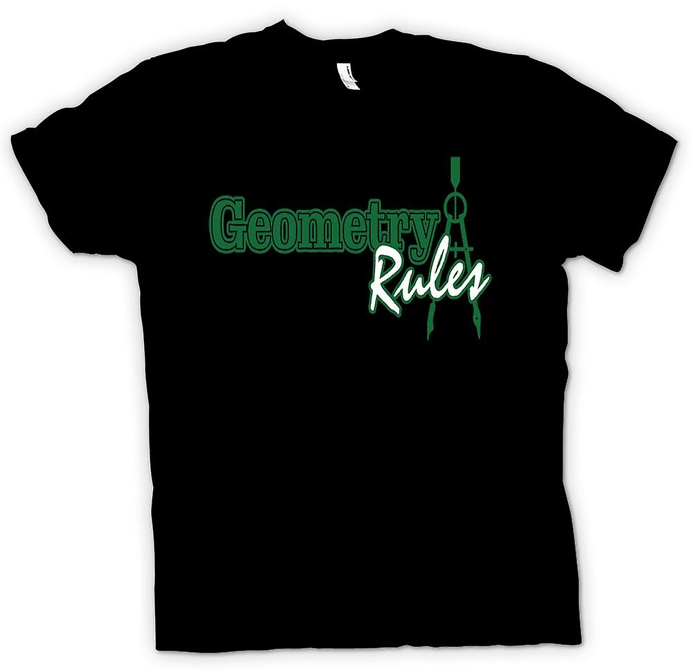 Mens T-shirt - Maths Geometry Rules - Funny