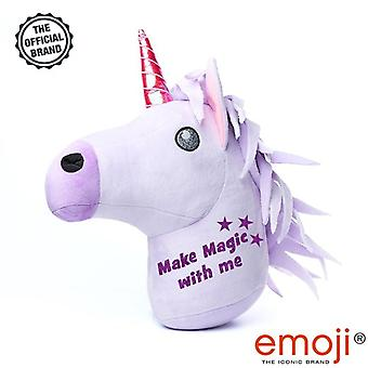 'Make magic with me' Glitter Unicorn emoji(r) Brand Cushion