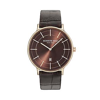 Kenneth Cole New York men's watch wristwatch leather KC15057013