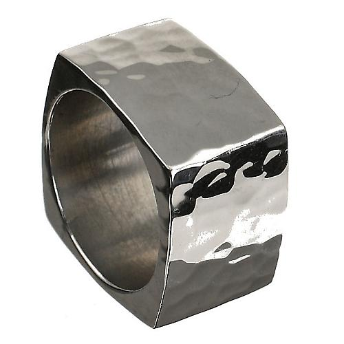 Solid Silver Square Ring