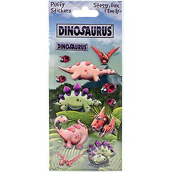 Dinosaurus Puffy Stickers-Steggy