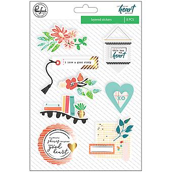 Let Your Heart Decide Layered Chipboard Stickers 5
