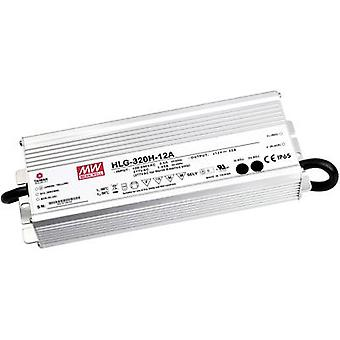 Mean Well HLG-320H-24 LED driver, LED transformer Constant voltage, Constant current 320 W 13.3 A 12 - 24 Vdc PFC circui