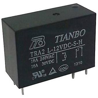 Tianbo Electronics TRA2 L-12VDC-S-H PCB relays 12 Vdc 20 A 1 maker 1 pc(s)