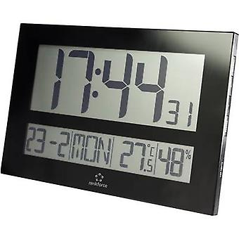 Renkforce C8461 Radio Wall clock 430 mm x 288 mm x 32 mm Black