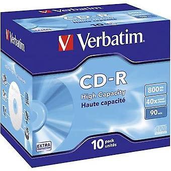 Verbatim 43428 Blank CD-R 90 800 MB 10 pc(s) Jewel case