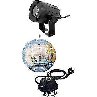 Eurolite 50101856 LED Mirror ball set incl. LED lighting, incl. motor 20 cm