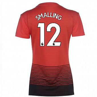 2018-2019 Man Utd Adidas Womens Home Shirt (Smalling 12)