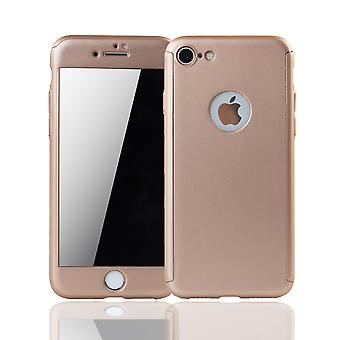 Apple iPhone 7 mobile case protection case 360 full cover tank protection glass gold