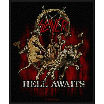 Slayer Patch Hell Awaits Band Logo new Official Black Woven