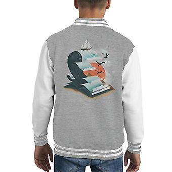 Book Of Waves Kid's Varsity Jacket