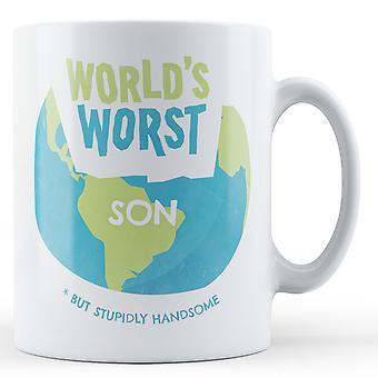 Weltweit schlimmsten Sohn - bedruckte Becher