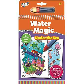 Galt vatten magi Under havet, färgning bok för barn
