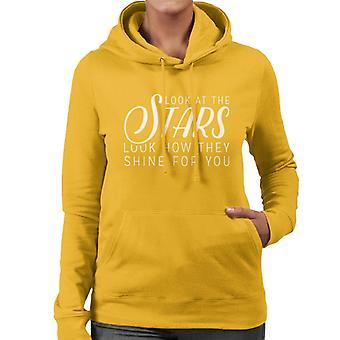 Coldplay Yellow Lyrics Women's Hooded Sweatshirt
