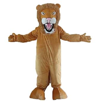 mascot SPOTSOUND of Brown and white, fully customizable lion on our site SPOTSOUND