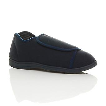 Ajvani męskie uchwyt podeszwa cukrzycowej ortopedyczne komfort szerokie dopasowanie kapcie pantofle