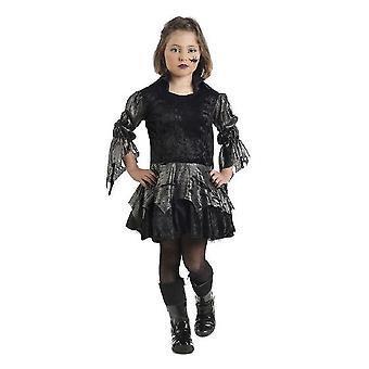 Vampirin Mädchen Halloweenkostüm Gothic Girl Fledermaus Kleid