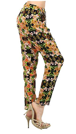 Waooh - Fashion - Floral Print Pants Carrot