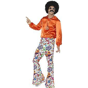 años 60 pantalones acampanados Groovy, Mens, multicolor
