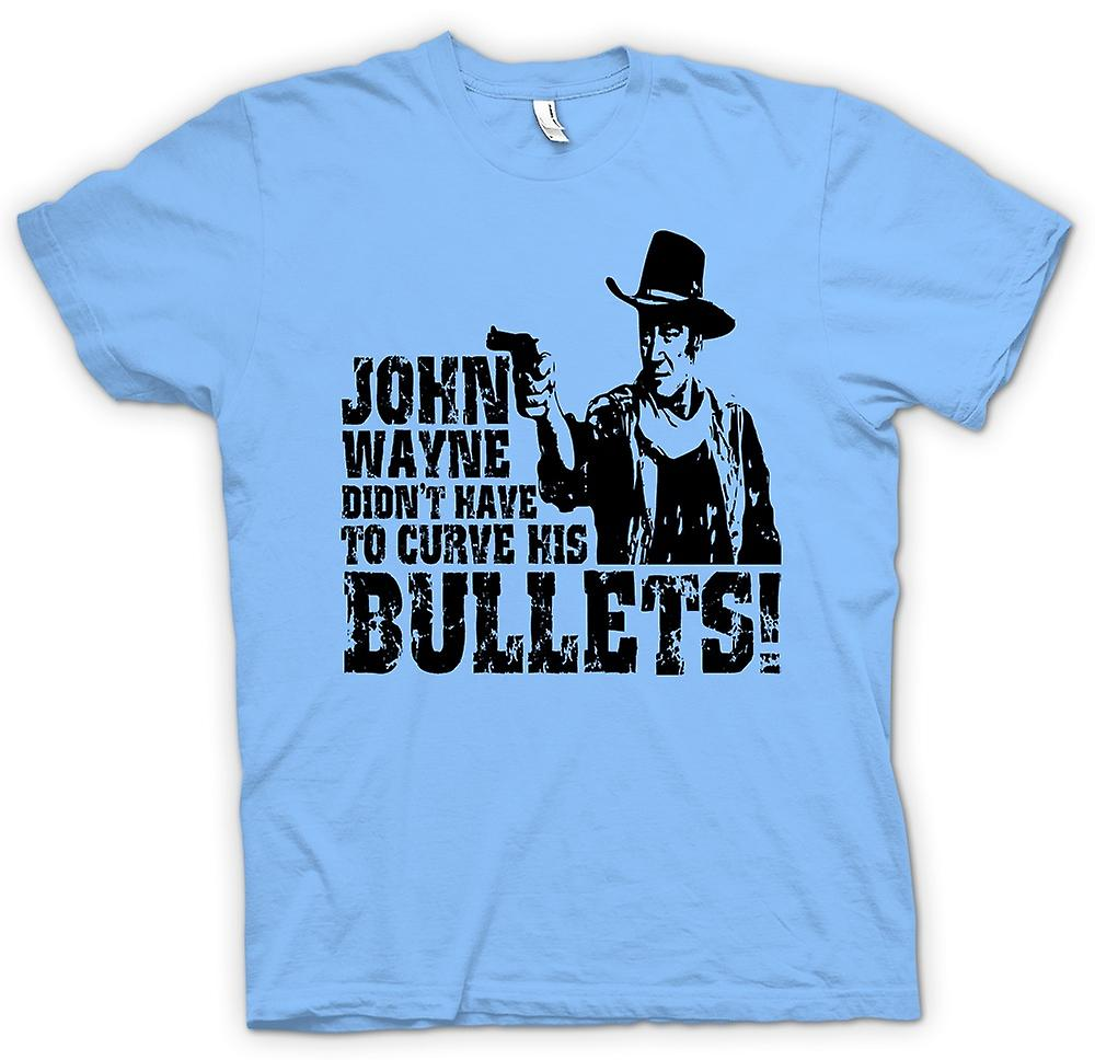 Mens T-shirt - John Wayne curvo - Cowboy
