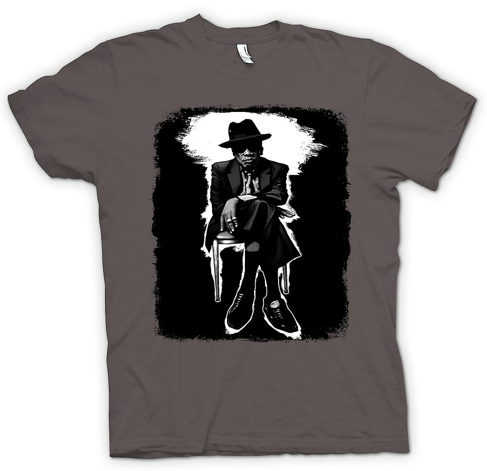 Mens t-shirt-John Lee Hooker Blues - BW - Pop Art